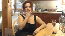 Smoking and Wine Drinking - ALHANA WINTER - Relaxing Pussy Time with You
