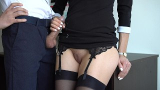Sexy Secretary In Stockings Makes Boss Cum On Her Dress In Office Creampie professional