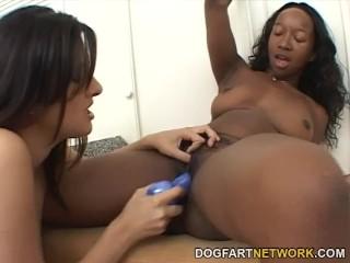 Stacey Ava & Ramon Interracial Lesbian