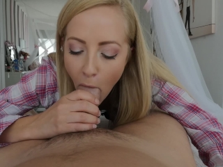 Preview 3 of Tiny blonde with blue eyes craves for my big white cock. Made in Barcelona