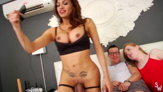 Trans Threesome with Jessy Dubai Shiri and Nicko