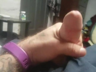 Sir Kink blowing a solo huge load out of his small cock!