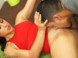 real gymnast Abella Danger gets fucked in flexi sex positions