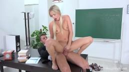 FuckStudies.com - Karolina - Blonde babe gets help and orgasm