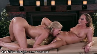 Stepmom Brandi Love Exchanges Pussy Licks with Naughty Daughter