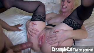 my wifes first gangbang creampie