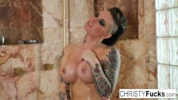 Christy Mack in the shower