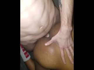 Black boy takes big white dick