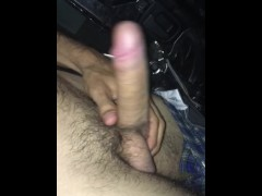 Daddy cums in the car