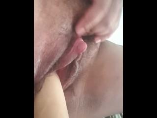 FtM dildo masturbation