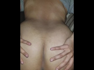 BBW Latina fucked doggystyle bf precums several times until creampie