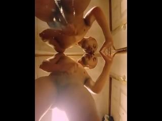 Masturbation in front of the mirror