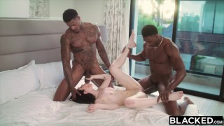Blacked bbc's takes evelyn two claire on bbc cowgirl