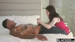 Evelyn on takes bbc's two claire blacked cock cowgirl