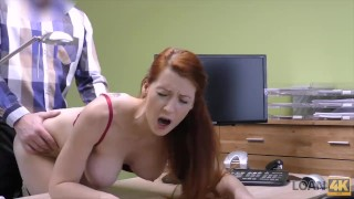 LOAN4K. Hypnotizing boobs for credit manager Milf tits