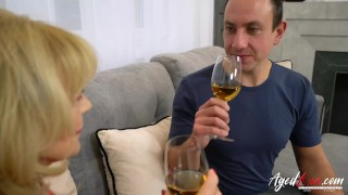 Hard youngster mature blonde by agedlove fucked natural old