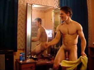 Naked dancing boy