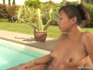 Asian Female Lovers With Nuru Massage