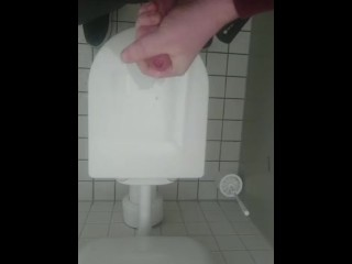 Cumming in puplic toilets at work