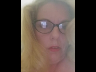 Milf pawg with glasses paying with her tits and pussy