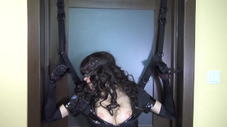 Tied police woman & fuck her with ohmibod and LELO remote control vibrators Blowjob deepthroat