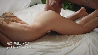 Wake up sex with perfect girlfriend - Amateur Couple LeoLulu Erotic sucking