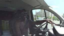 BBC JossLescaf BBC nude driving in the city #exibition #fun