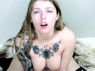 Hitachi Riding Lubed Tits And Eye Contact