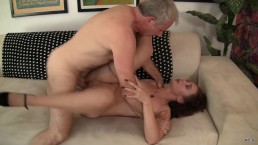 Small tits MILF take big cock in the pussy