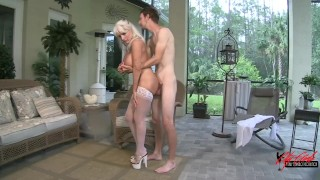 Anal Fucking my Mother in law ...balls deep anal creampie Licking natural