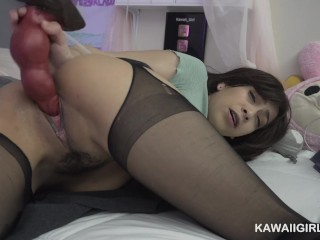 Slutty Cam Girl Loves to Fuck Dragon Dildo