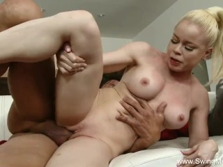 Blonde Slut Swinger Wife