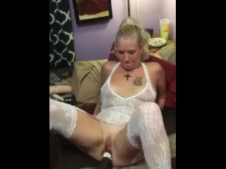 the big black cock wasnt enough so my man taught him to fist me instead
