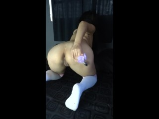 agatha dolly comes to squirt orgasm with double penetration