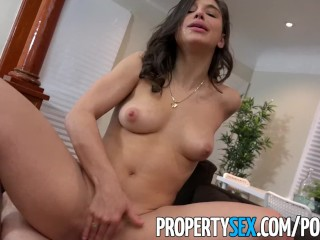 PropertySex – College student fucks big ass real estate agent