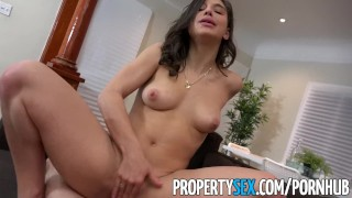 PropertySex - College student fucks big ass real estate agent Ebony black