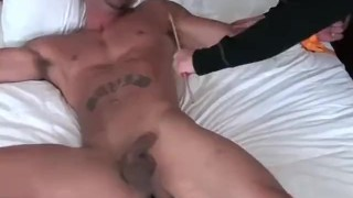 Muscular hunk Jose is tied to the bed and tickled hard Webcam off