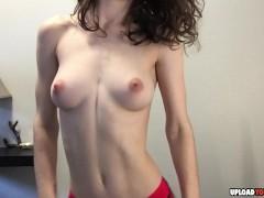 Skinny Girl Dancing For Her Fans