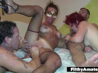 The milf, the slut and the hairy one