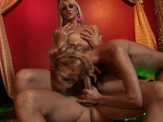 Perfect Body Bubble Butt Strippers Ride Huge Cock In Club