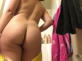 Latina Teen Ass Teasing in the Shower
