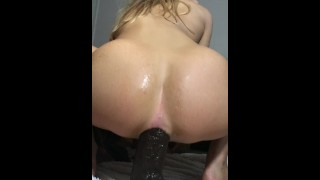 Blonde hot Teen forces 14inch BBC in her tight little ass Camming masturbate