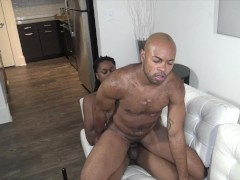 SEXY BLACK TRANSMAN PUSSY GETS FUCKED ROUGH BY BIG BLACK DICK KEPTSECRTXXX