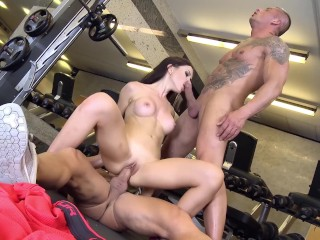 Straight Studs Naked Fucking, Sex Video Babe Big Tits Brunette Hardcore Pornstar Threesome Double Penetration