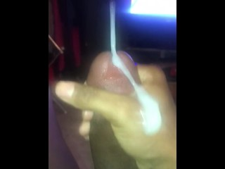 Getting caught letting off a load of cum