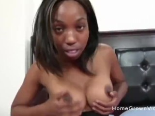 Gina Sucks And Fucks Her First White Cock