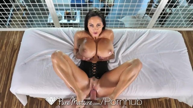 Purely yours double electric breast pump Puremature oiled up massage fuck with big breasted milf ava addams
