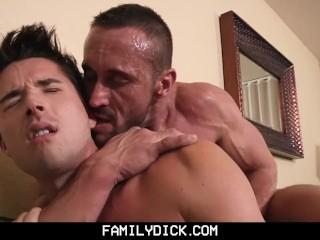 FamilyDick – Angry  muscle stepdad barebacks his pretty boy son