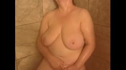 Naughty Raven Loves Masturbating While Showering