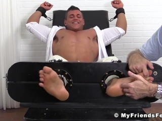Hot feet licking and tickling with classy jock and older stud